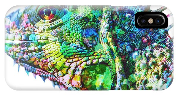 IPhone Case featuring the painting Iguana by Mark Taylor