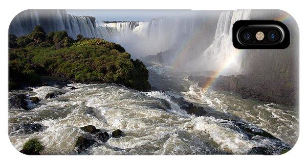 Iguassu Falls With Rainbow IPhone Case