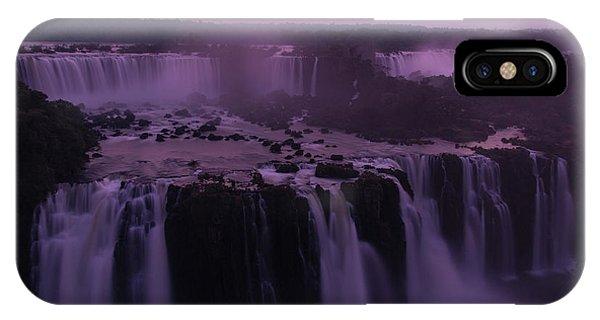 Iguazu Sunset In Violet IPhone Case