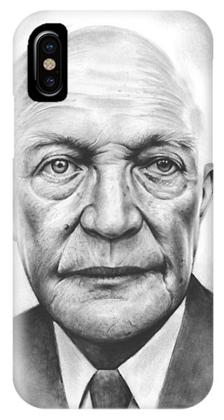 United States Presidents iPhone Case - Ike by Greg Joens