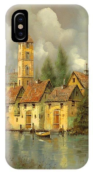 Village iPhone Case - Il Campanile Di Villa Giusti by Guido Borelli