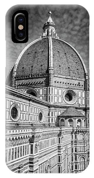 Il Duomo Florence Italy Bw IPhone Case