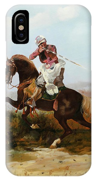 Knight iPhone Case - Il Fucilatore Di Sassi by Guido Borelli
