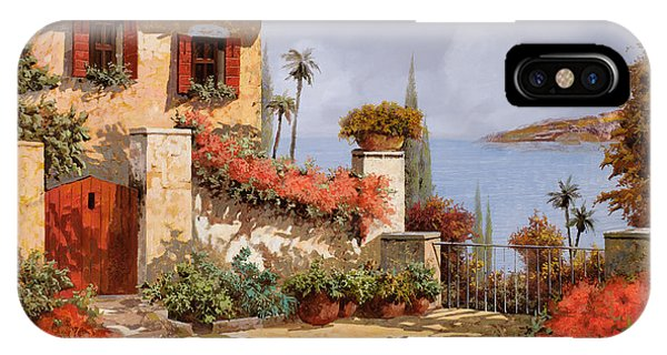 IPhone Case featuring the painting Il Giardino Rosso by Guido Borelli