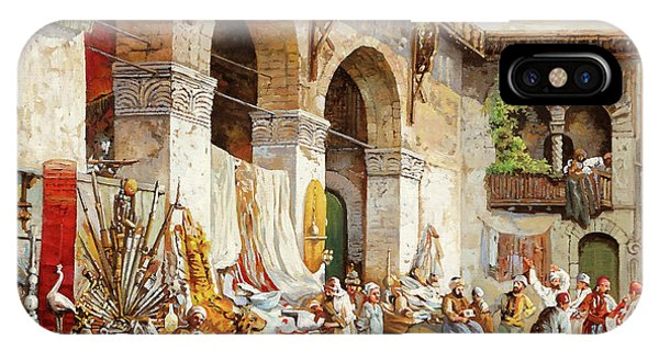 Arched iPhone Case - Il Mercato Arabo by Guido Borelli