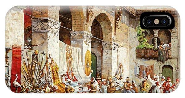 Camel iPhone Case - Il Mercato Arabo by Guido Borelli