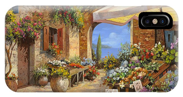 Arched iPhone Case - Il Mercato Del Lago by Guido Borelli