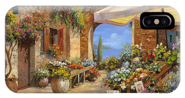 Vegetables iPhone Case - Il Mercato Del Lago by Guido Borelli
