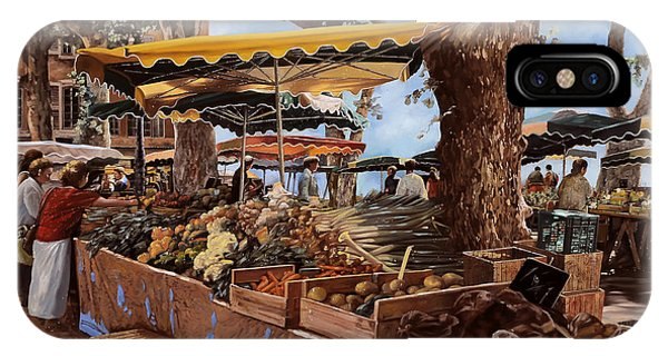 Basket iPhone Case - il mercato di St Paul by Guido Borelli