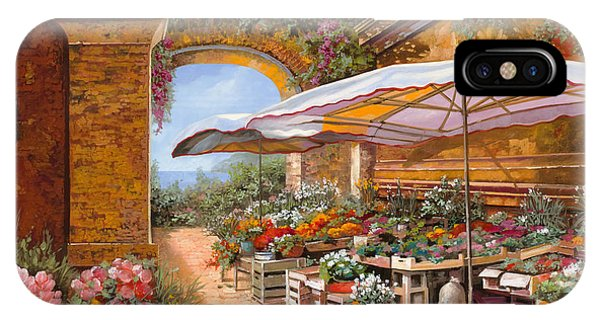 Arched iPhone Case - Il Mercato Sotto I Portici by Guido Borelli