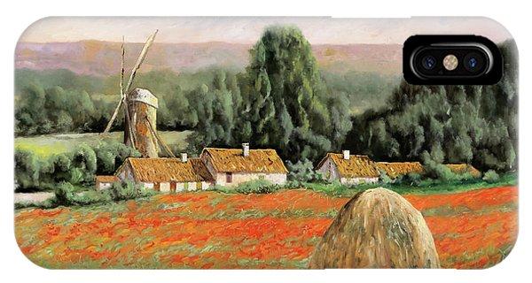 Windmill iPhone Case - Il Mulino Nel Bosco by Guido Borelli