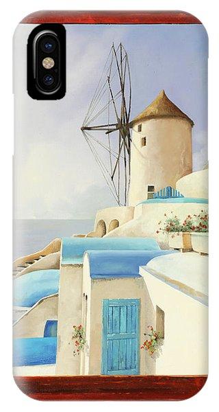 Windmill iPhone Case - Il Mulino Oltre La Finestra by Guido Borelli