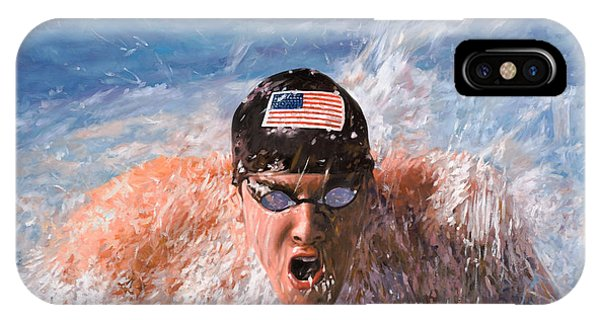Dolphin iPhone Case - Il Nuotatore by Guido Borelli