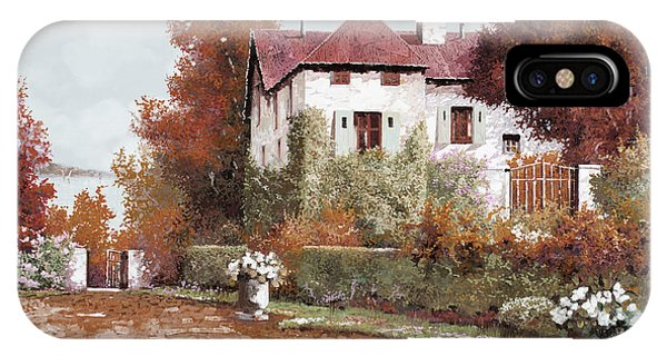 Palace iPhone Case - Il Palazzo In Autunno by Guido Borelli