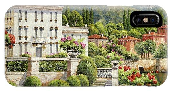 Palace iPhone Case - Il Palazzo Sul Lago by Guido Borelli