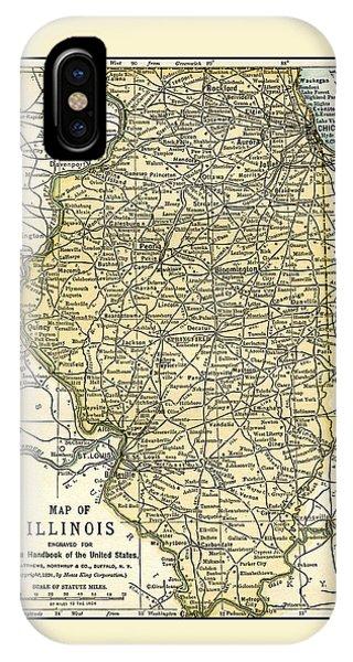 Illinois Antique Map 1891 IPhone Case