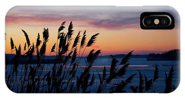 Illinois River Winter Sunset  IPhone Case
