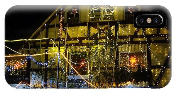 Illuminated Christmas-house IPhone Case