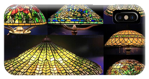Illuminated Tiffany Lamps - A Collage IPhone Case