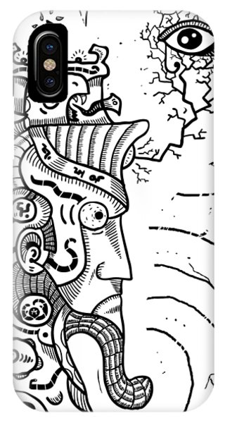 Surrealism Illuminati Black And White IPhone Case