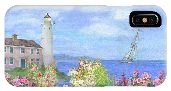 Illustrated Lighthouse By Summer Garden IPhone Case