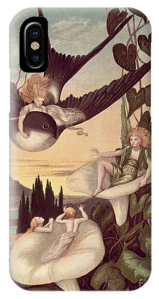Swallow iPhone Case - Illustration To 'thumbkinetta' by Eleanor Vere Boyle and Hans Christian Andersen
