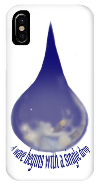 IPhone Case featuring the painting I'm A Drop. Join Me. by Kym Nicolas