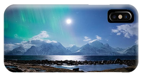 Panorama iPhone Case - Imagine Auroras by Tor-Ivar Naess