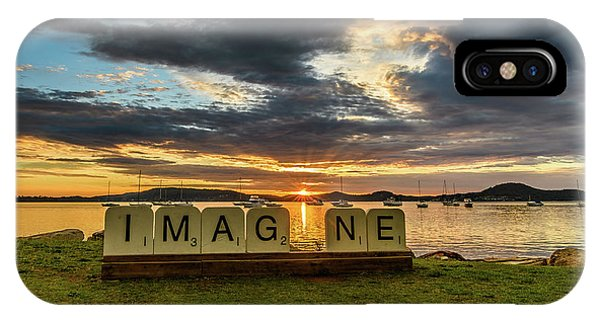 Imagine Sunrise Waterscape Over The Bay IPhone Case
