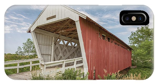IPhone Case featuring the photograph Imes Covered Bridge by Susan Rissi Tregoning