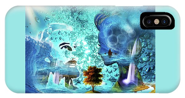 IPhone Case featuring the digital art  Immersed by Jennifer Page