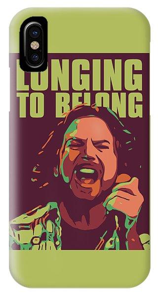 Pearl Jam iPhone Case - Eddie Vedder by Greatom London