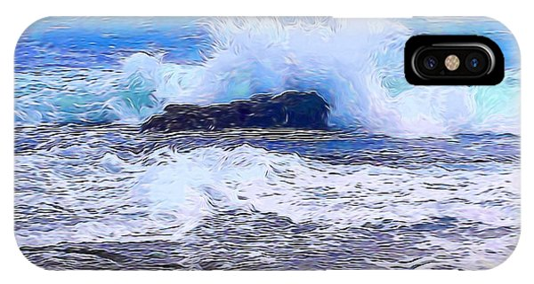 Ocean Impact In Abstract 1 IPhone Case