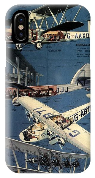 Advertising iPhone Case - Imperial Airways - The Greatest Air Service In The World - Retro Travel Poster - Vintage Poster by Studio Grafiikka