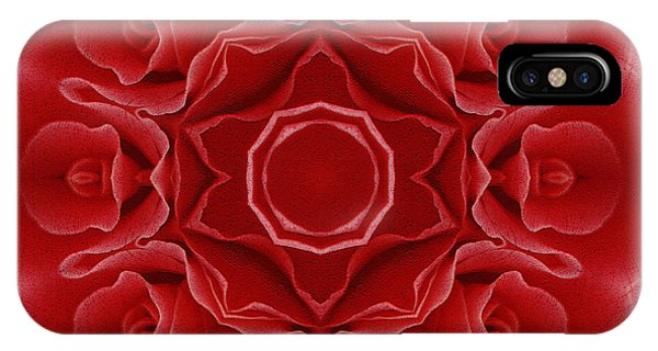Spirituality iPhone Case - Imperial Red Rose Mandala by Georgiana Romanovna