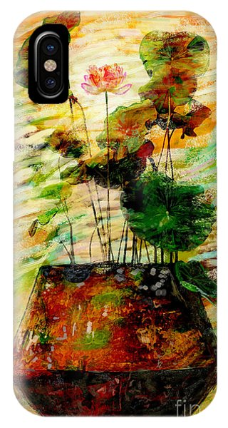 Oxide iPhone Case - Impression In Lotus Tree by Atiketta Sangasaeng