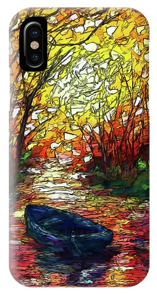 IPhone Case featuring the painting Impression Sunset Print From Olena Art Original Oil Painting #pixels   by OLena Art Brand