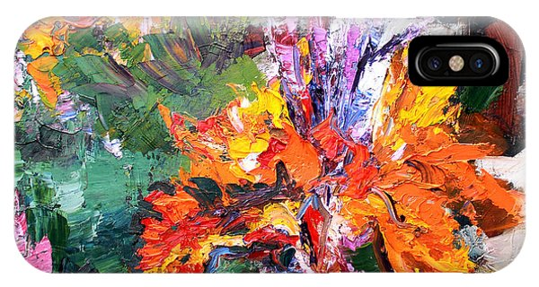 Impressionist Canna Flower Oil Painting  IPhone Case