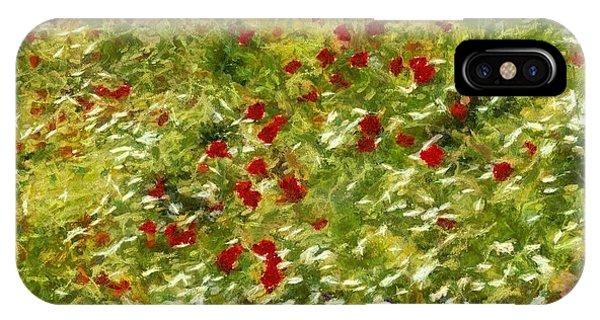 Impressionist Poppies IPhone Case