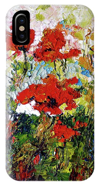 Impressionist Red Poppies Provencale IPhone Case