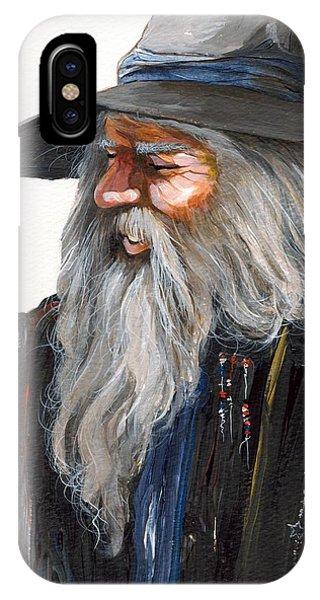 Wizard iPhone X Case - Impressionist Wizard by J W Baker