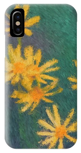 Impressionist Yellow Wildflowers IPhone Case