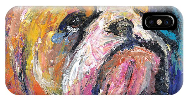Impressionistic Bulldog Painting IPhone Case