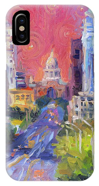 Capitol iPhone Case - Impressionistic Downtown Austin City Painting by Svetlana Novikova