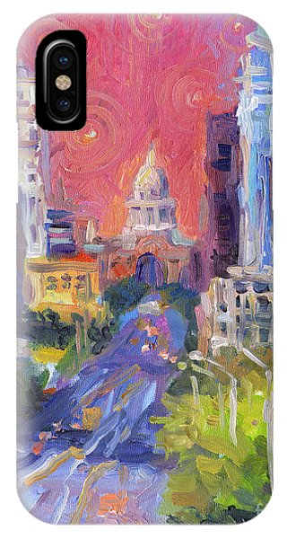 Impressionistic Downtown Austin City Painting IPhone Case
