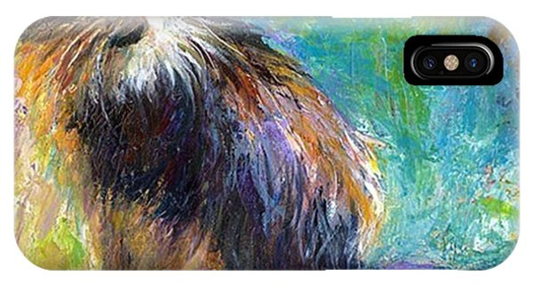iPhone Case - Impressionistic Tuxedo Cat Painting By by Svetlana Novikova