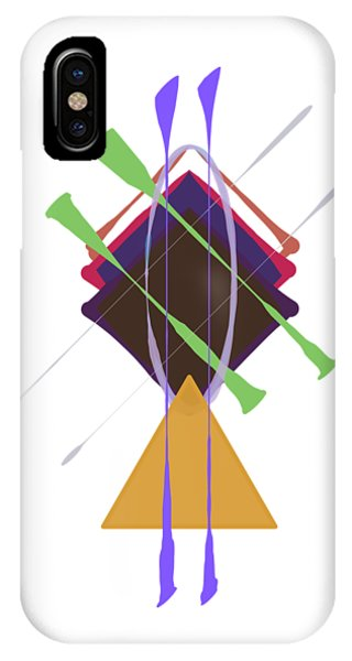 IPhone Case featuring the digital art Improvised Geometry #3 by Bee-Bee Deigner