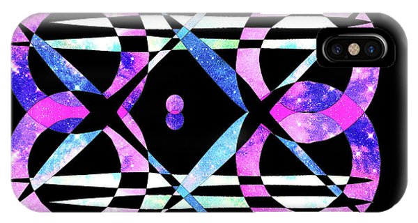IPhone Case featuring the digital art I Took A Retrofuturistic Journey In Space In 1920 by Bee-Bee Deigner