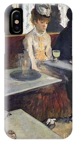 Alcoholism iPhone Case - In A Cafe by Edgar Degas