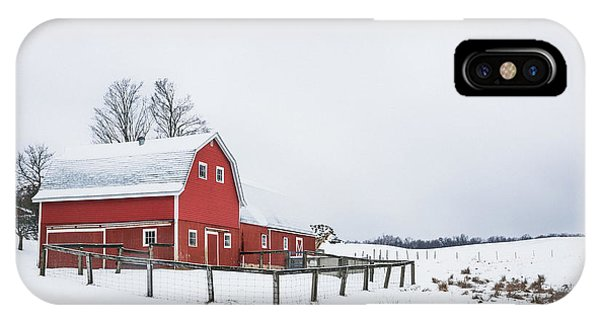 New England Barn iPhone Case - In A Rural Atmosphere by Evelina Kremsdorf